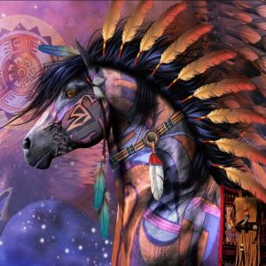 Journey Quest Mustang Horse and Shield