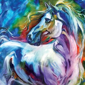 Horse Watercolor by Mercia Baldwin from Mystic Power