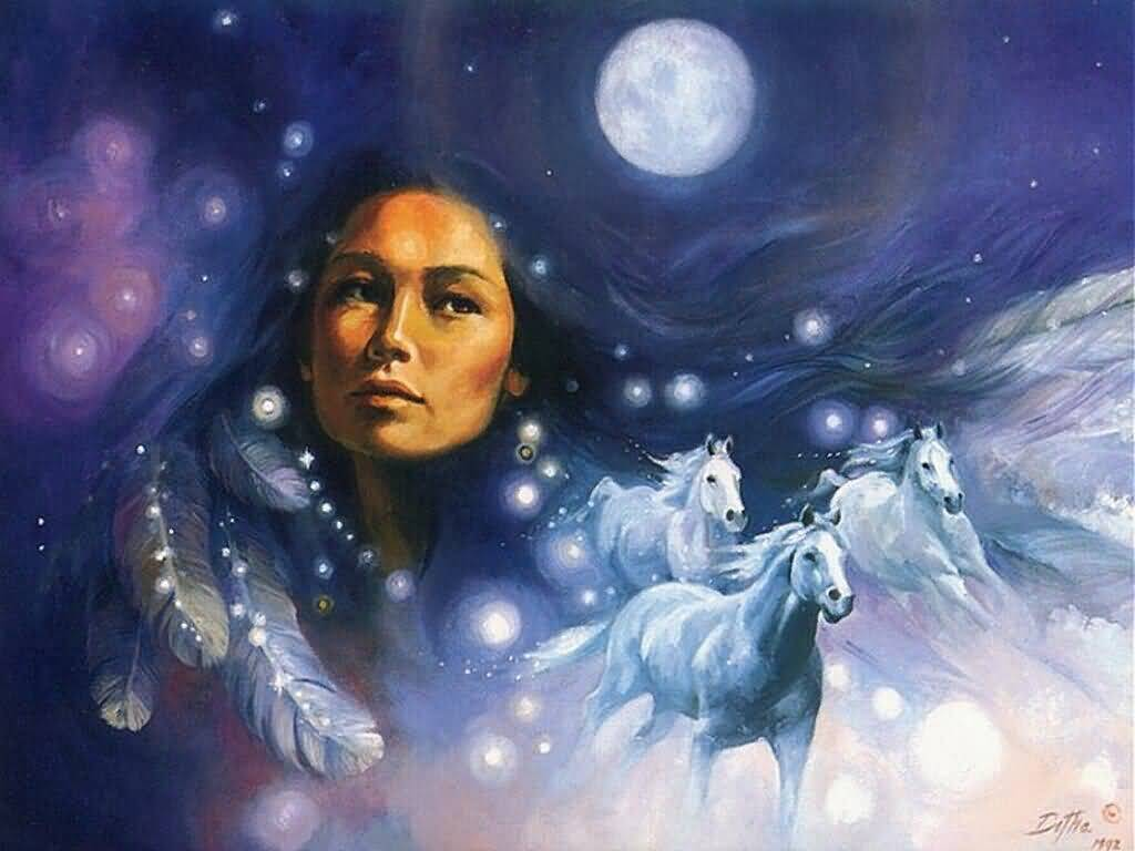 Full Moon Goddess Magic Mara Clear Spring Shamanic
