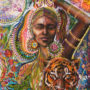 Eclipse portal Closing Tiger Butterfly Goddess of Strength by Isabel Bryna