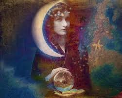 New Moon Goddess artist unknown