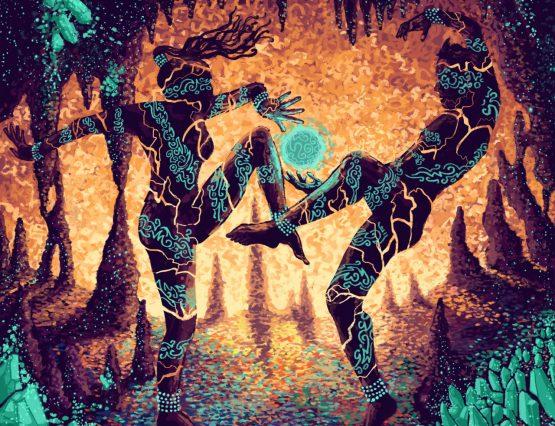 Dancestors Tribal Couple Dancing Sexy Roar Triumphs