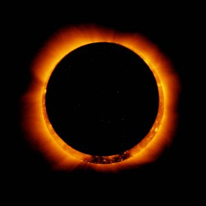 Eclipse Solar Annular wide-corona-eclipse