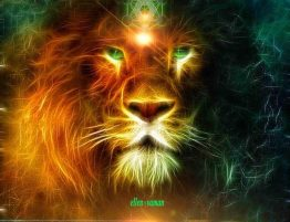 Sacred Messages Lion Heart Messages - art by Ellen Vaman