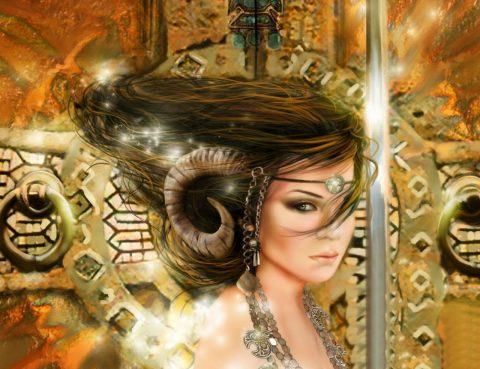 Full Moon In Aries Woman 1 no artist