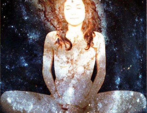 Woman made of stars Waking Up