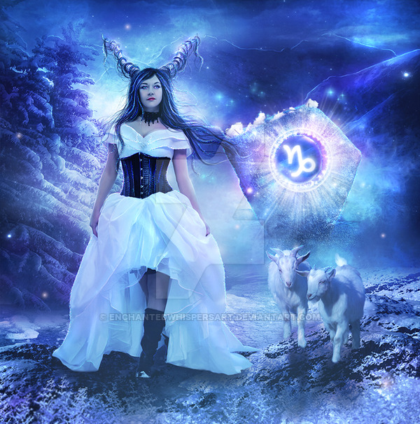 Venus Divine Yin Process Capricorn by Enchanted Whispers Art