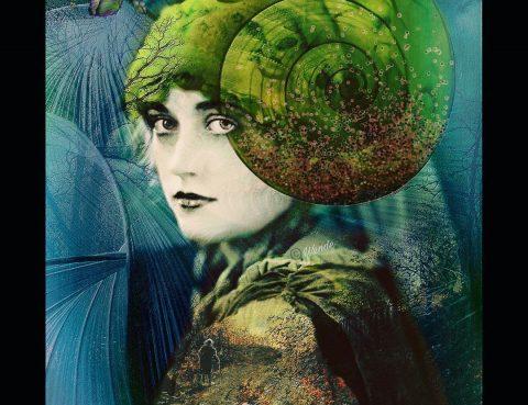 dynamic synchronicity Woman Retro Green Spiral