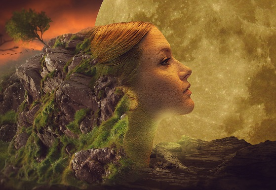 Get Crystal Clear Woman Moon Earth profile artist unknown