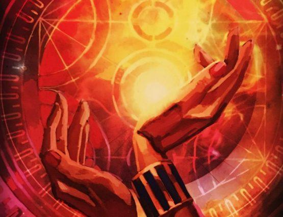 sun card reading Hands Sun ritual