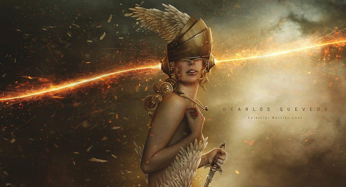 Chiron Retrograde Celestial Warrior Leah by Carlos Quevedo