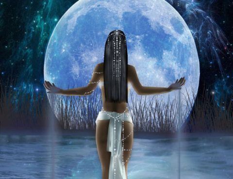 Full Blue Scorpio Moon