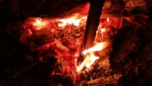 Spring Renewal Fire by Mara for the Shamanic Fire Ring Drumming Circle