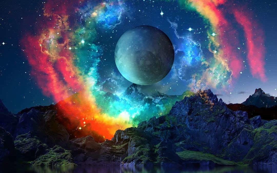 Trickster energy Halloween Blue Full Moon