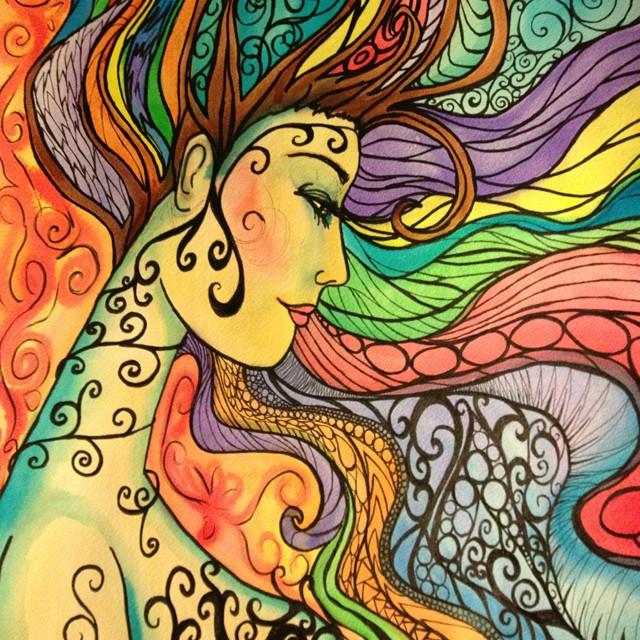 Happy Hippie Aquarius Full Moon